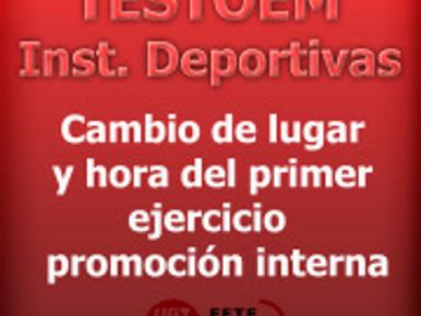 FETE UGT UGR Informa: CAMBIO DE LUGAR Y HORA EN TESTOEM…