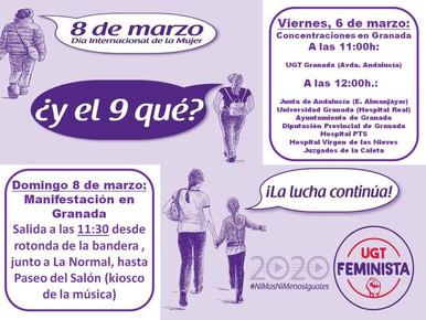 ACTOS POR EL DÍA INTERNACIONAL DE LA MUJER, 8 DE MARZO