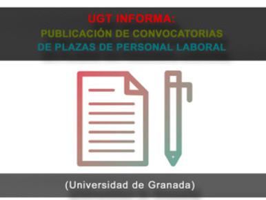 🔴 UGT INFORMA: PUBLICACION DE OPEs DE DISTINTAS CATEGORIAS DE PAS L (UGR)