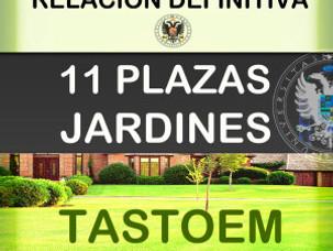 LISTAS DEFINITIVAS DE JARDINES en la UGR