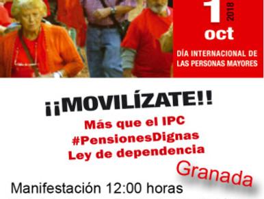MOVILIZACIONES ESTE 1 DE OCTUBRE EN DEFENSA DEL SISTEMA PÚBLICO DE PENSIONES