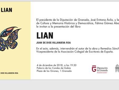 """PRESENTACIÓN DE """"LIAN"""", NUEVO LIBRO DE RELATOS. (Juandedios Villanueva Roa)."""