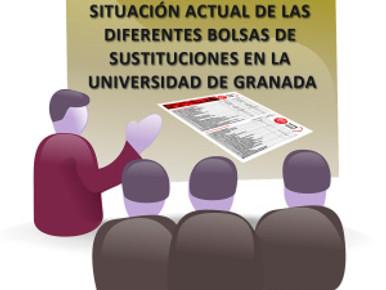 SITUACIÓN ACTUAL DE LAS DIFERENTES BOLSAS DE SUSTITUCIONES EN LA UGR, con fecha 14 de Septiembre de