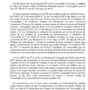 OFERTA DE EMPLEO PÚBLICO (OPE) COMPLEMENTARIA DEL PDI
