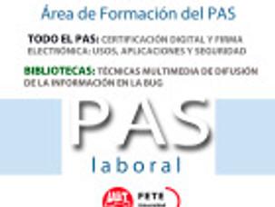 Acciones formativas   (Área de Formación del PAS)