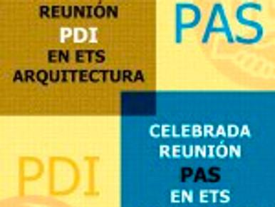 CELEBRADA REUNIÓN PAS Y PDI EN ETS ARQUITECTURA
