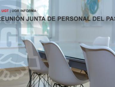 🔴UGT|UGR INFORMA: REUNIÓN JUNTA DE PERSONAL DEL PAS