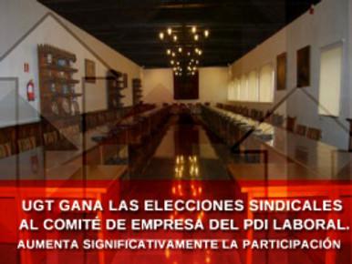 🔴 UGT GANA LAS ELECCIONES SINDICALES AL COMITÉ DE EMPRESA DEL PDI LABORAL (UGR). AUMENTA SIGNIFICAT