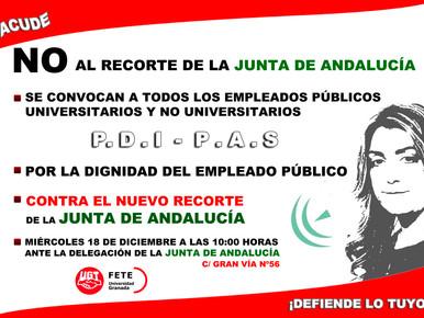 CONTRA EL NUEVO RECORTE DE LA JUNTA DE ANDALUCÍA