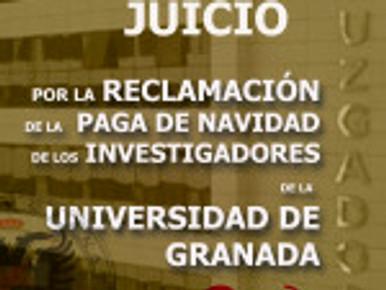 HOY MIÉRCOLES 17 DE JULIO, JUICIO POR LA RECLAMACIÓN DE LA  PAGA DE NAVIDAD DE LOS INVESTIGADORES DE