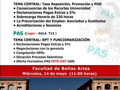 MIÉRCOLES DÍA 14, PRÓXIMA VISITA FACULTAD DE BELLAS ARTES