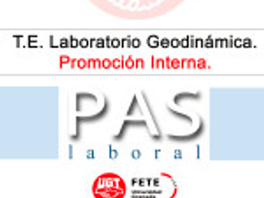 T.E. Laboratorio Geodinámica. Promoción Interna.