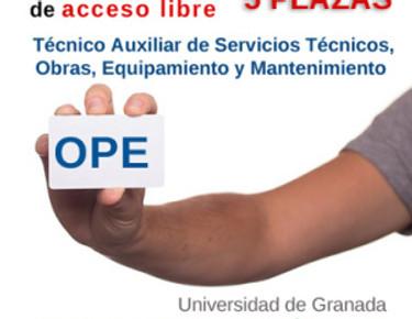 🔴 O.P.E. MANTENIMIENTO (5 plazas). PUBLICACIÓN EN BOE DE LA CONVOCATORIA. (UGR)