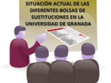 🔴 SITUACIÓN ACTUAL DE LAS DIFERENTES BOLSAS DE SUSTITUCIONES EN LA UGR, con fecha  18 de enero de 2