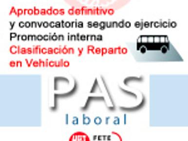 Promoción interna Clasificación y Reparto en Vehículo – (Aprobados definitivo y convocatoria s