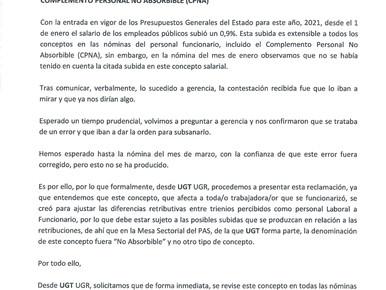 RECLAMACIÓN A GERENCIA REVISIÓN CONCEPTO CPNA