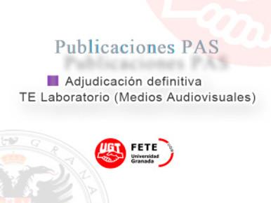 Adjudicación definitiva – TE Laboratorio (Medios Audiovisuales), vacante en la facultad de cie