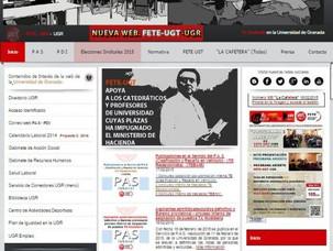 FETE-UGTde la UGR ha puesto a disposición de los trabajadores universitarios su nueva web