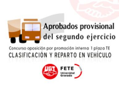 Concurso oposición por promoción interna 1 plaza TE (Clasificación y Reparto en Vehículo) UGR