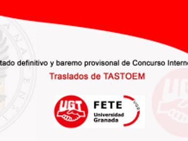 Concurso Traslados – Admitidos y Baremo Provisional TASTOEM