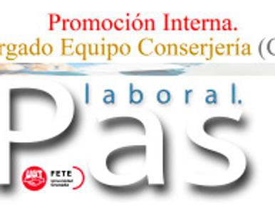 Encargado Equipo Conserjería (Ceuta) Promoción Interna.