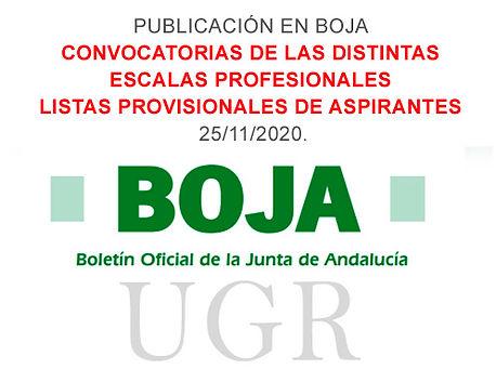 Con fecha de hoy, 25 de noviembre de 2020, se publica en BOJA las siguientes resoluciones: Click to access BOJA20-228-00002-14496-01_00181754.pdf Click to access BOJA20-228-00002-14497-01_00181755.pdf Click to access BOJA20-228-00002-14498-01_00181756.pdf Click to access BOJA20-228-00002-14499-01_00181758.pdf Click to access BOJA20-228-00002-14500-01_00181759.pdf Click to access BOJA20-228-00002-14506-01_00181763.pdf #OPE #Oposiciones #ugr