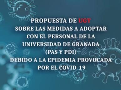 🔴 UGT | UGR INFORMA: PROPUESTA DE UGT SOBRE LAS MEDIDAS A ADOPTAR CON EL PERSONAL DE LA UNIVERSIDAD