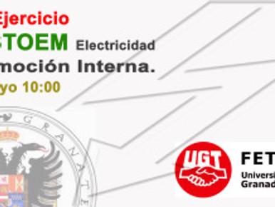 1er Ejercicio TESTOEM Electricidad Promoción Interna. 19 Mayo 10:00 horas
