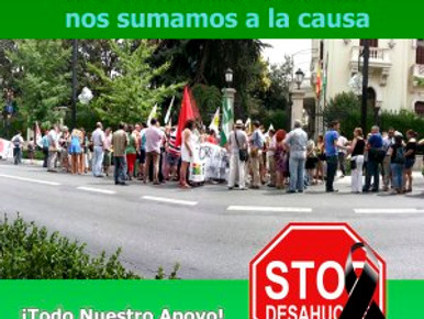Stop – Desahucios  ¡TODO NUESTRO APOYO!  FETE-UGT-UGR