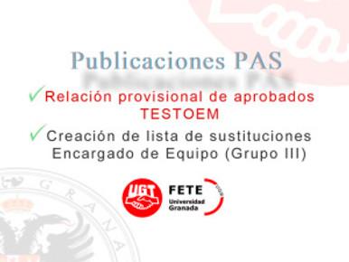 Publicaciones Servicio Personal  (PAS-UGR)