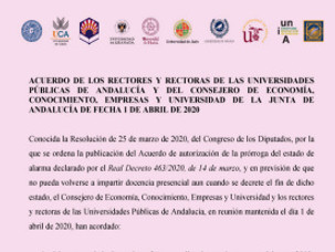 🔴UGT|UGR INFORMA:  CRISIS COVID-19 UNIVERSIDADES.  ACUERDO DE LOS RECTORES Y LA JUNTA DE ANDALU