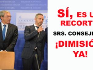 🔴 EL RECORTE A LAS UNIVERSIDADES ANDALUZAS.  LAS DIMISIONES DE LO CONSEJEROS DE HACIENDA Y UNIVERSI