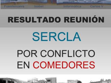 RESULTADO REUNIÓN SERCLA POR CONFLICTO EN COMEDORES