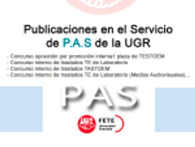 Publicaciones en el Servicio de P.A.S de la UGR