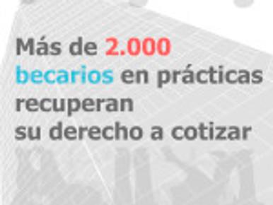 Más de 2.000 becarios en prácticas recuperan su derecho a cotizar