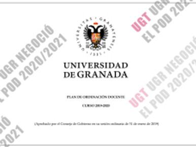 UGT UGR NEGOCIÓ EL POD 2020/2021. RESULTADOS Y ACUERDOS DE LA MESA SECTORIAL DEL PDI