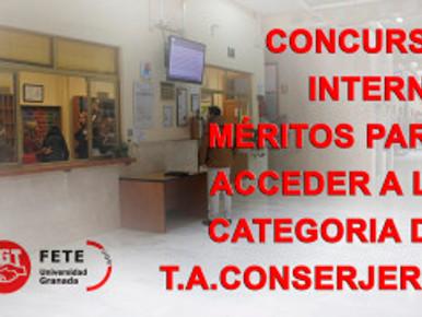 CONCURSO INTERNO MÉRITOS PARA ACCEDER A LA CATEGORIA DE T.A.CONSERJERIA