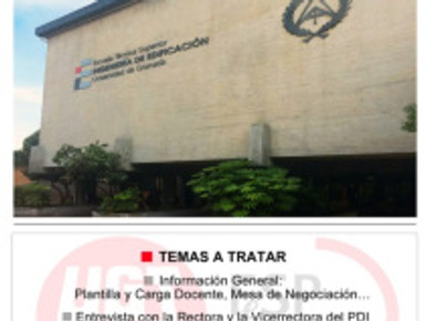 UGT CONVOCÓ A LOS PROFESORES ASOCIADOS DE LA UGR