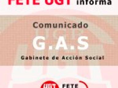 FETE UGT UGR  informa:  G.A.S