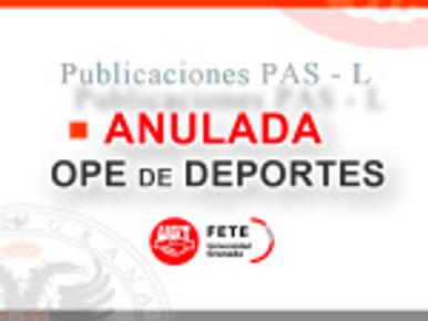 ANULADA OPE DE DEPORTES