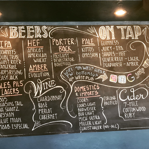 Over 30 beers to choose from.