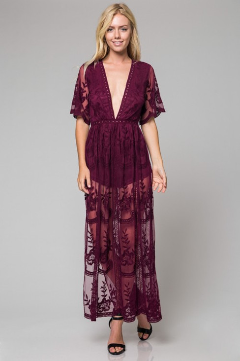Wine Color Lace Dress.jpg