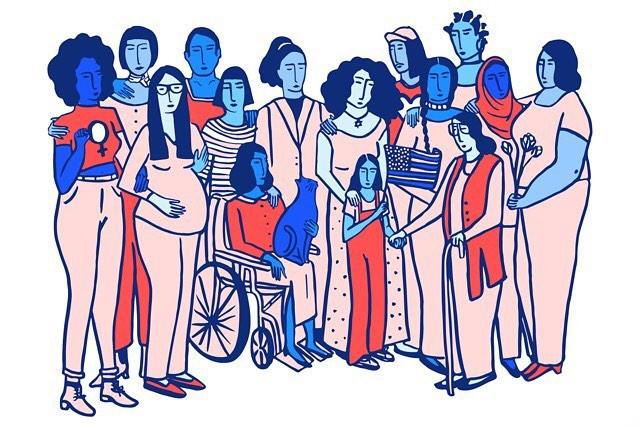pluralidade de mulheres e vivências. Arte: Alexandra Bowman
