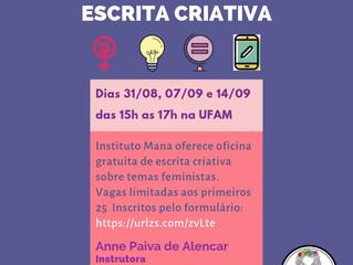 O Instituto Mana oferece oficina de escrita criativa