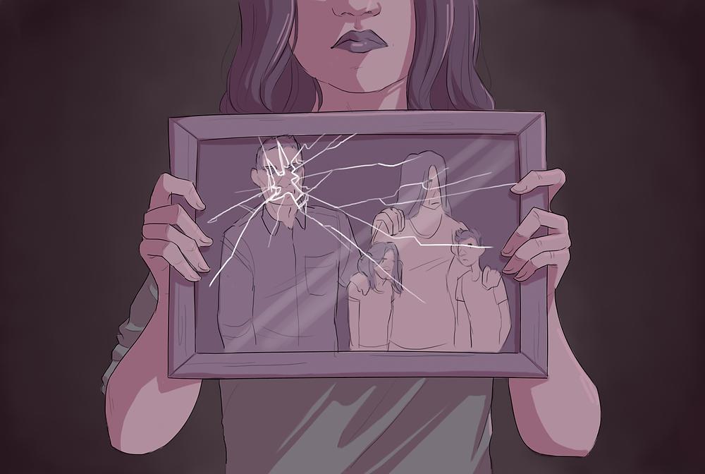 shattered family portrait