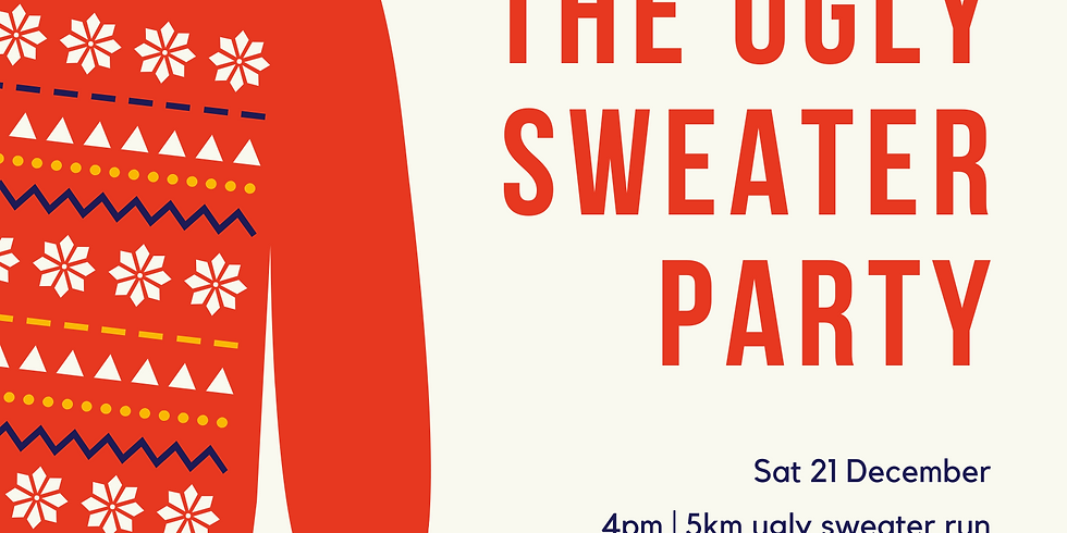 The City Alps ugly sweater festive run/drinks