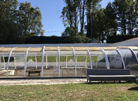 CHANTIER PARTICIPATIF : métamorphose d'un toit de piscine en serre pour agrumes