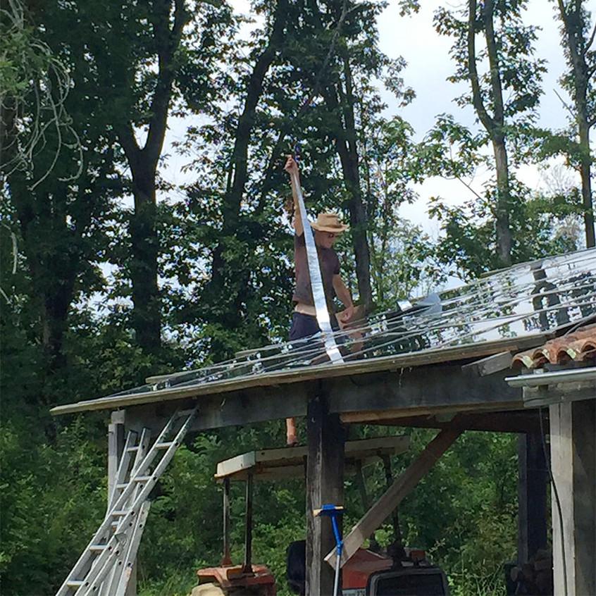 isolation du toit solaire