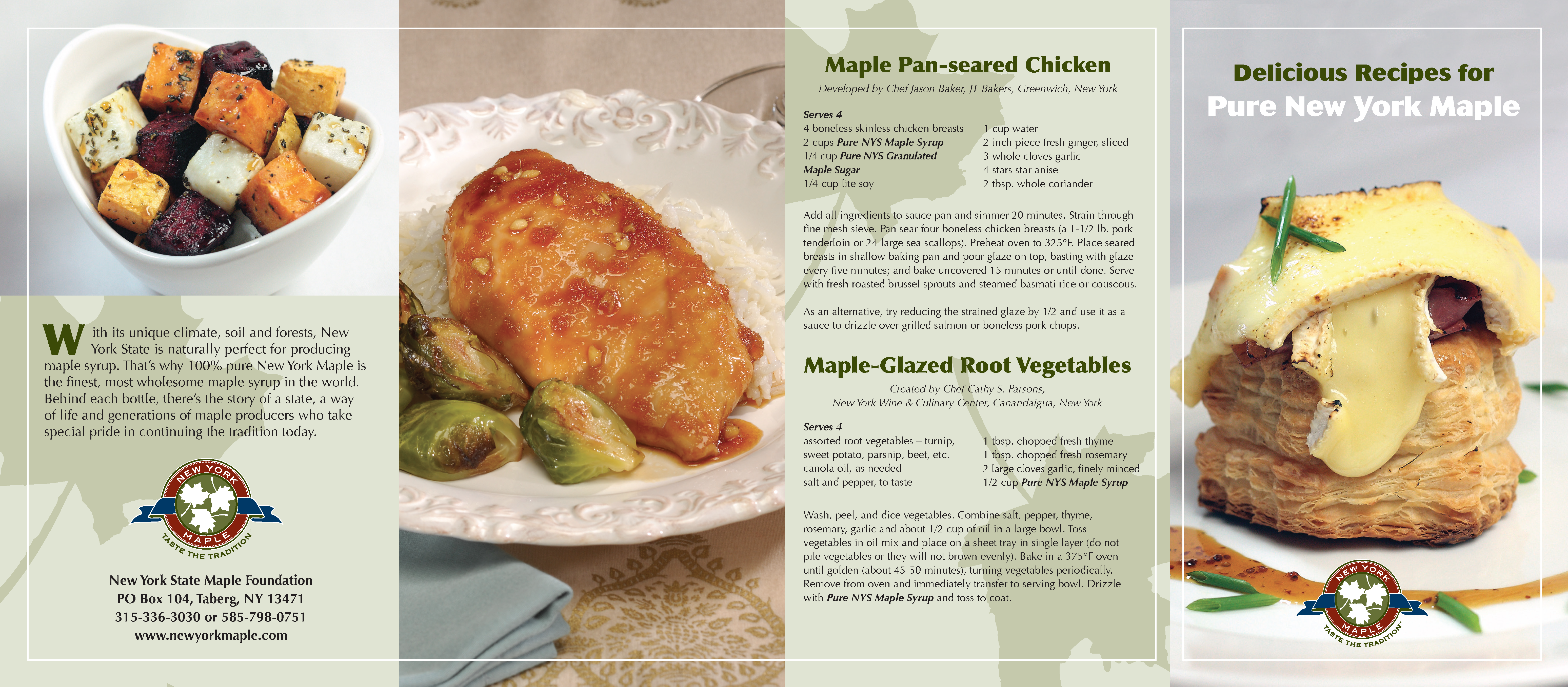 Pages from Maple Recipes Brochure