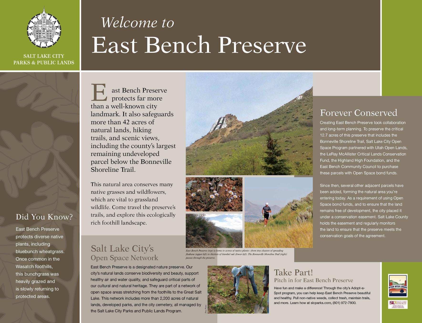 East Bench Preserve OS-Interpretive Kiosk 1-DRAFT 2-061215